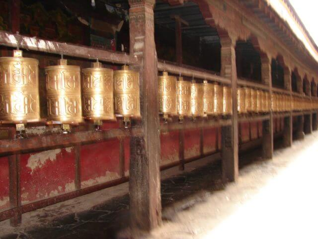 prayer drums at the Jokhang Temple