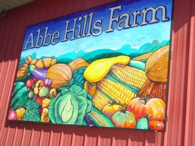 Abbe Hills Farm sign