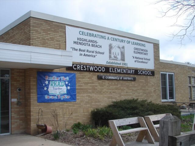 Entrance to the Crestwood Elementary School