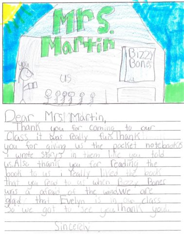 Letter from a child.