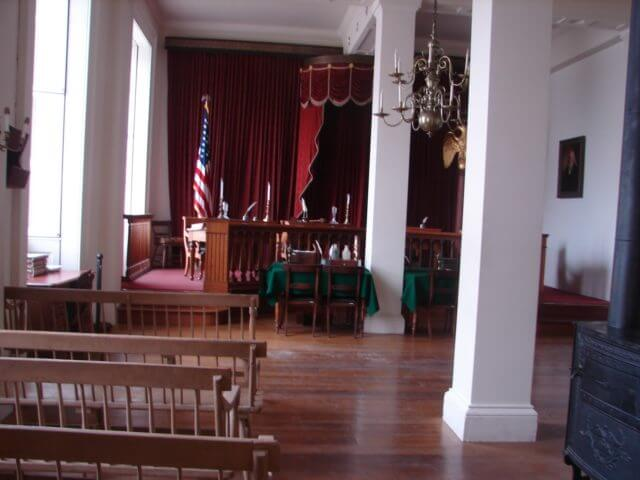 """""""Old"""" Illinois Supreme Court Chamber where Lincoln argued cases."""