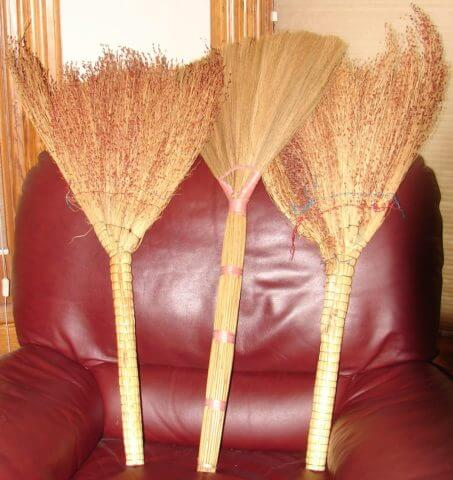Brooms like the ones used to sweep the streets in Shigatse